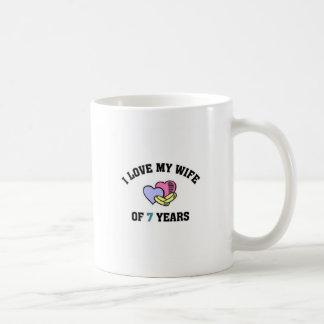 I love my wife of 7 years basic white mug