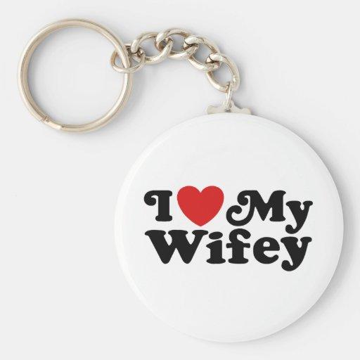 I Love My Wifey Key Chains