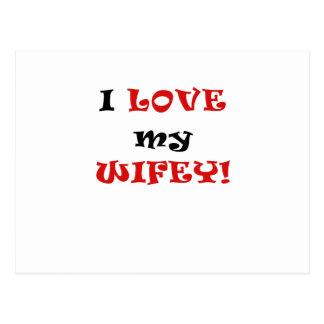 I Love my Wifey Postcard