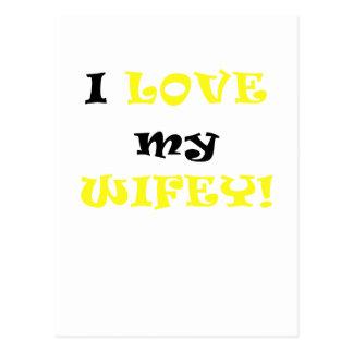 I Love my Wifey Postcards