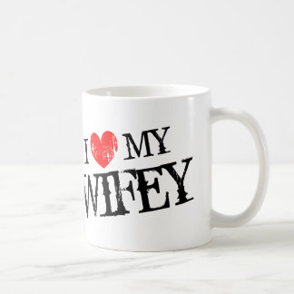 I love my wifey Valentines Day mug for husband