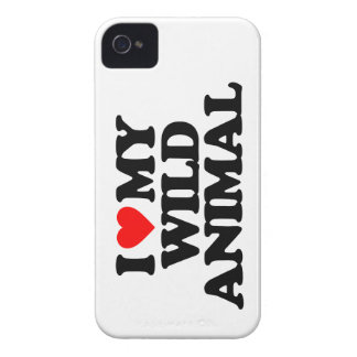 I LOVE MY WILD ANIMAL iPhone 4 Case-Mate CASES