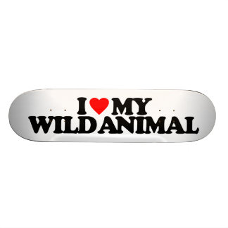 I LOVE MY WILD ANIMAL SKATE BOARD DECKS