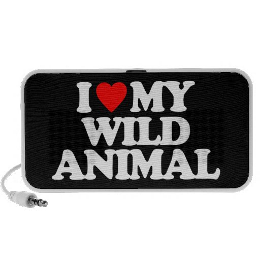 I LOVE MY WILD ANIMAL NOTEBOOK SPEAKERS