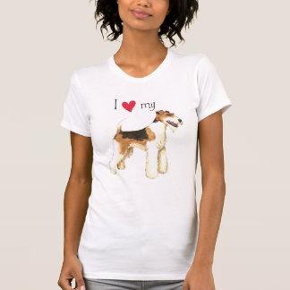 I Love my Wire Fox Terrier T Shirt