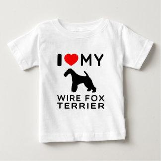 I Love My Wire Fox Terrier Shirts