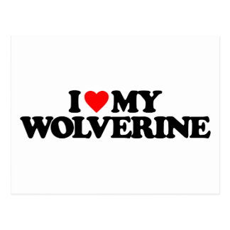 I LOVE MY WOLVERINE POSTCARD