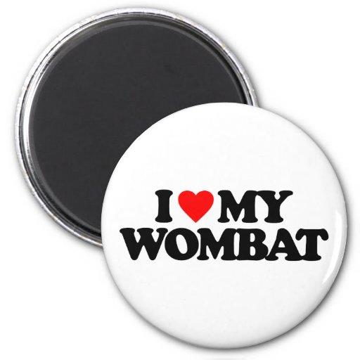 I LOVE MY WOMBAT REFRIGERATOR MAGNETS