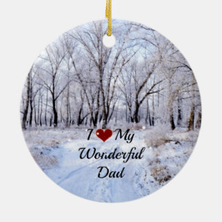 I Love My Wonderful Dad - Snowy Winter Day Christmas Ornament