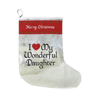 """I Love My Wonderful Daughter"" Christmas stocking"