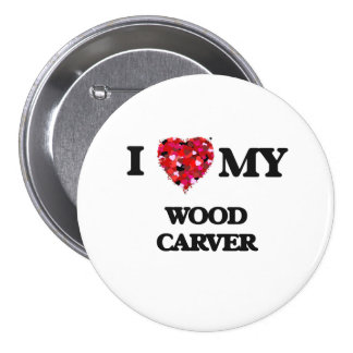 I love my Wood Carver 3 Inch Round Button