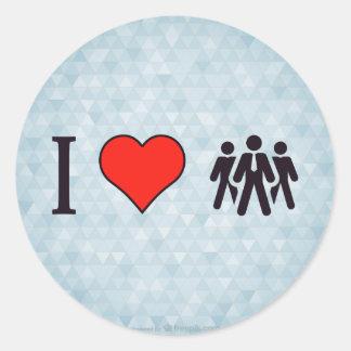 I Love My Work-Force Round Sticker