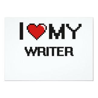 I love my Writer 5x7 Paper Invitation Card