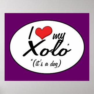 I Love My Xolo (It's a Dog) Print