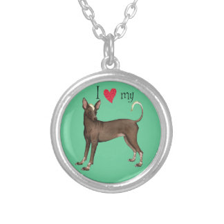 I Love my Xolo Round Pendant Necklace