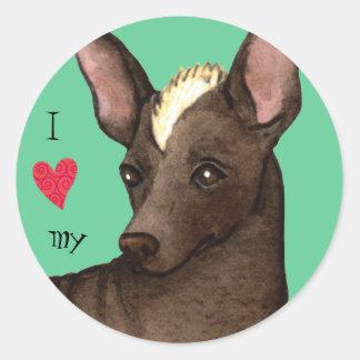 I Love my Xolo Round Sticker