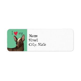 I Love my Xoloitzcuintli Return Address Label