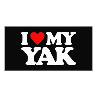 I LOVE MY YAK PHOTO CARD