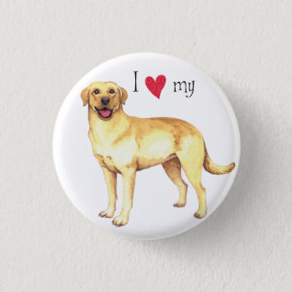 I Love my Yellow Lab 3 Cm Round Badge