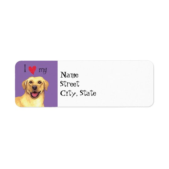 I Love my Yellow Lab Return Address Label