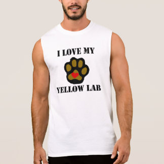 I Love My Yellow Lab Sleeveless Shirt