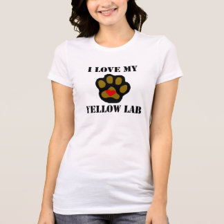 I Love My Yellow Lab T-shirts