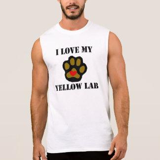 I Love My Yellow Lab Sleeveless Shirt