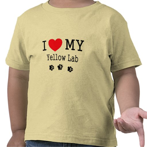 I Love My Yellow Lab Tee Shirts