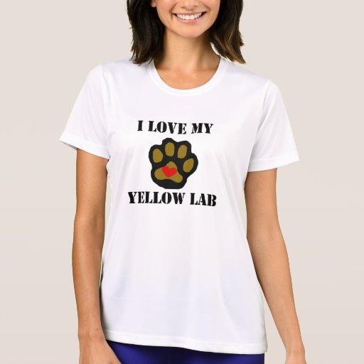I Love My Yellow Lab Tee Shirt