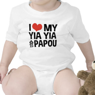 I Love My Yia Yia and Papou Rompers