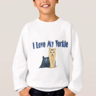 I Love My Yorkie Art Dog Print Sweatshirt