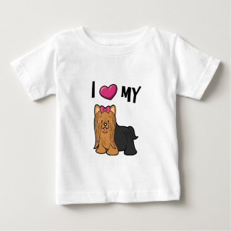 I love my Yorkie Baby T-Shirt
