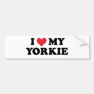 I Love My Yorkie Bumper Sticker