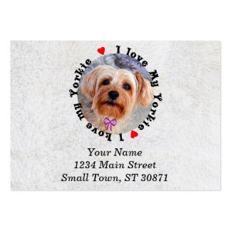 I love my Yorkie Female Yorkshire Terrier Dog Pack Of Chubby Business Cards