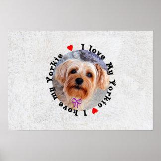 I love my Yorkie Female Yorkshire Terrier Dog Poster