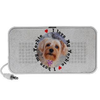 I love my Yorkie Female Yorkshire Terrier Dog Speaker