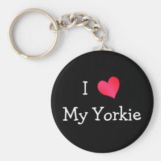 I Love My Yorkie Key Ring