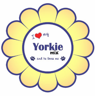I Love My Yorkie Mix (Male Dog) Photo Cutout