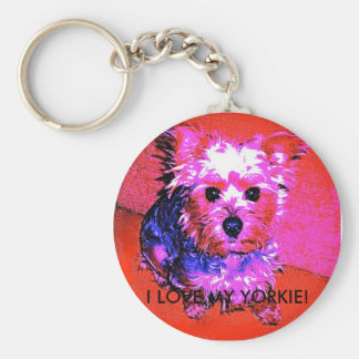 I LOVE MY YORKIE! PINK & BLUE SERIES KEYCHAIN