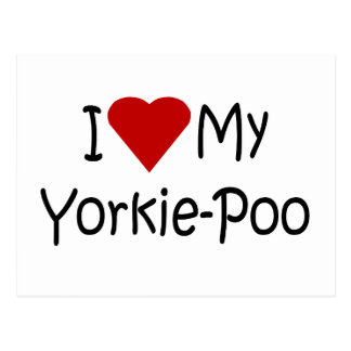 I Love My Yorkie-Poo Dog Breed Lover Gifts Postcard
