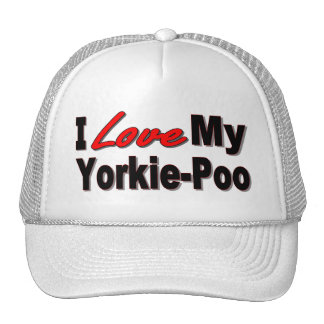 I Love My Yorkie-Poo Dog Gifts and Apparel Cap