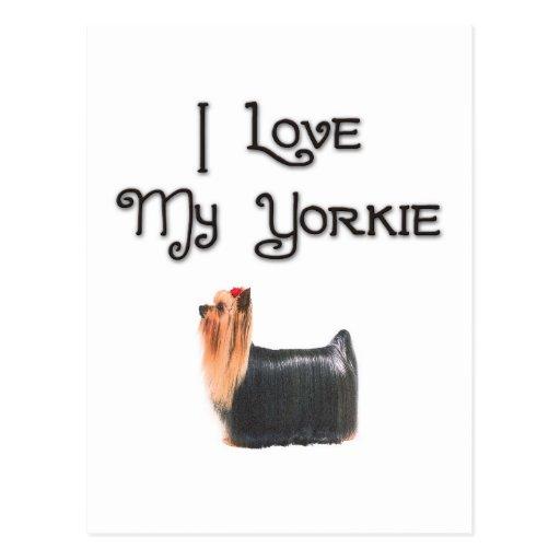 I Love My Yorkie Postcards