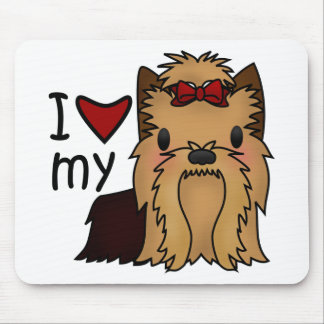 I Love My Yorkie, Yorkshire Terrier Mouse Mat