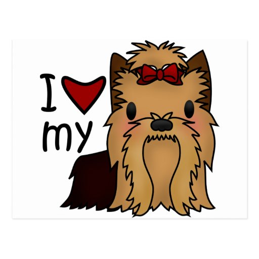 I Love My Yorkie, Yorkshire Terrier Post Cards