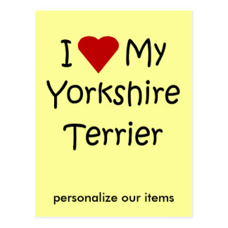 I Love My Yorkshire Terrier Dog Breed Lover Gifts Postcard