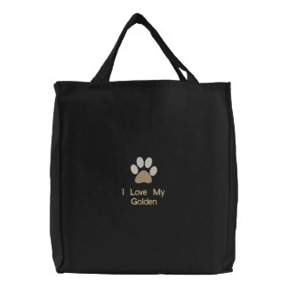 I Love My Your Dog Breed Here Canvas Bag