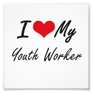 I love my Youth Worker Photo Print