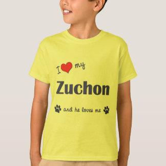 I Love My Zuchon (Male Dog) T-Shirt