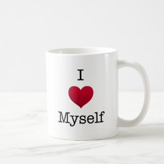 i love myself basic white mug