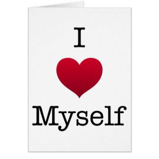 i love myself card